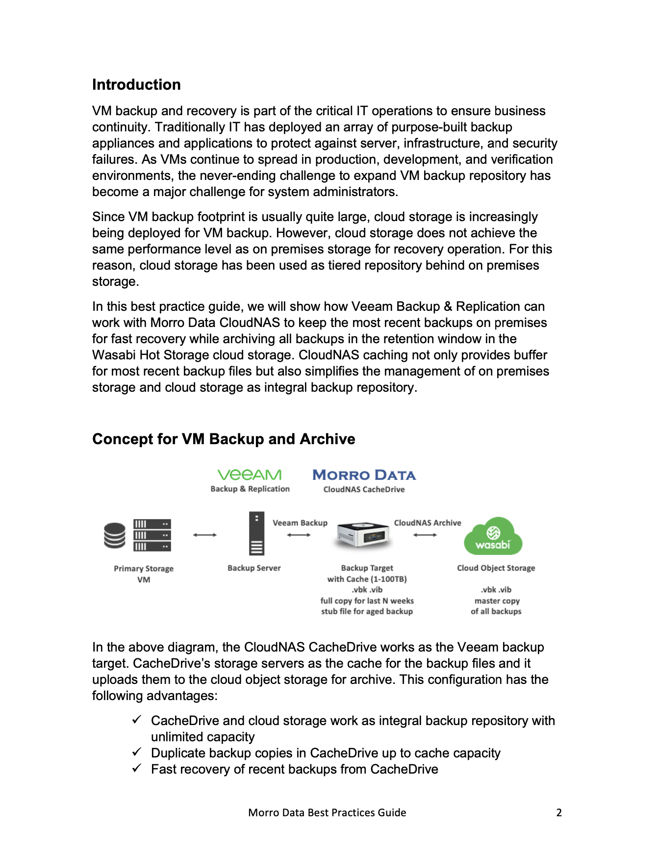 A Best Practice Guide: VM backup to the cloud with Wasabi Cloud Storage