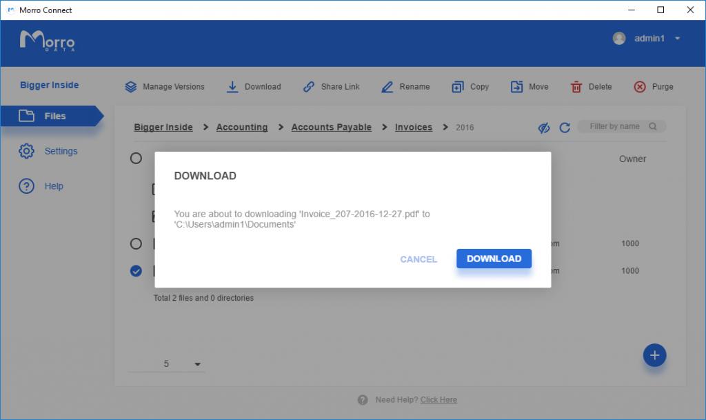 Morro Connect team portal - Download latest version