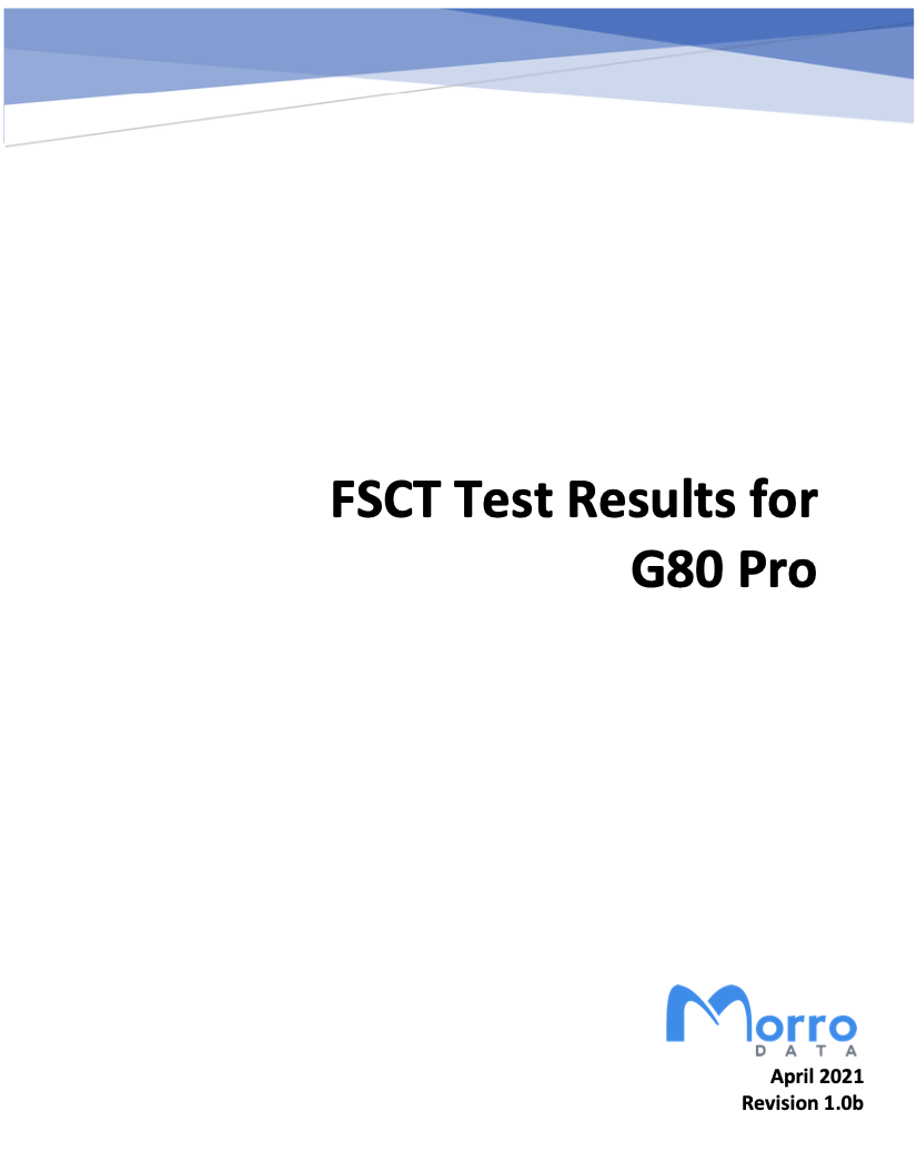 FSCT Test Results for G80 Pro cover